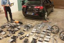 """Andria – Scovato un """"magazzino"""" di centraline elettroniche e parti meccaniche di auto rubate"""