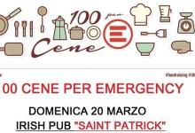 """Barletta – """"#100cene per Emergency"""": buon cibo e sostegno attivo"""