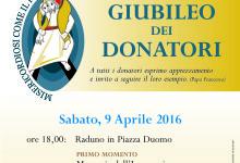 Andria – Giubileo dei donatori: si rinnova l'appuntamento per i donatori di sangue