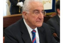 Il presidente Filippo Bortone lascia il Tribunale di Trani