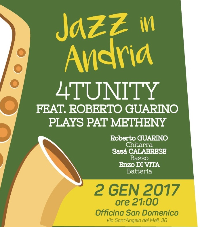 Andria nuovo anno a ritmo di jazz in officina san for Nuovo arredo andria