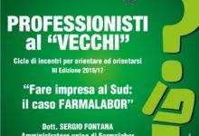 """Trani – Ciclo """"Professionisti al Vecchi"""": incontro con Sergio Fontana di Farmalabor"""