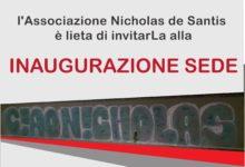 Trani – Domenica prossima inaugurazione sede Associazione Nicholas de Santis