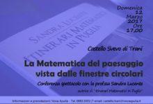 """Trani – Conferenza spettacolo con Sandra Lucente, autrice di """"Itinerari matematici in Puglia"""""""