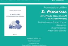 """Trani – Oggi presentazione libro """"Il Pensatoio"""" di Lorenzo Procacci Leone"""