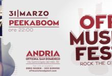 Andria – Off Music Fest: all'Officina San Domenico il festival dell'indie rock