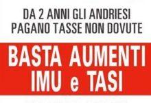 Andria – Petizione centrosinistra contro aumenti Imu e Tasi: 700 firme in 3 ore