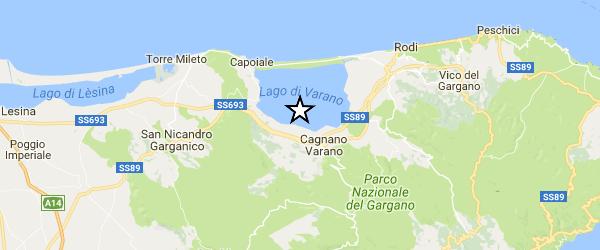 ULTIM' ORA – Terremoto nel Gargano di magnitudo 4.0