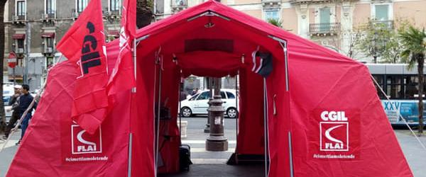 Andria – Mercoledì in piazza Catuma la tenda rossa della Flai Cgil
