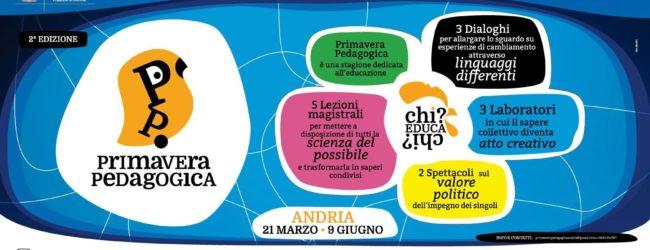 """Andria – Ritorna la """"Primavera Pedagogica"""""""