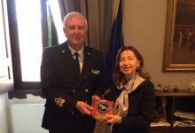 Barletta – Visita in Prefettura dell'ammiraglio Goiseppe Meli