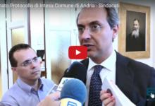 Andria – Firmato protocollo d'intesa tra Comune e sindacati