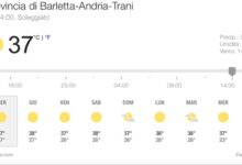 BAT – In arrivo caldo fino a 38 gradi