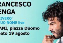 """Trani – Fuori Museo: domani in piazza Duomo arriva Francesco Renga con """"Scriverò il tuo nome live""""."""