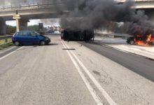 Grave incidente sulla Corato-Trani: 4 feriti e un'auto a fuoco