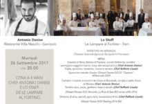 """Cena chic per lo chef Raffaele Casale de """"Le Lampare al Fortino di Trani"""""""
