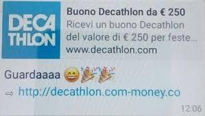 Informatica – Truffe online, arrivano anche i falsi buoni Decathlon da 250 euro