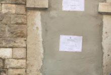 Trani – Casa Bovio: murato il portone d'ingresso