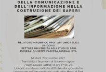 Trani –  Incontro con il rettore dell'Università di Bari  prof. Uricchio