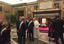 Una delegazione di sindaci dell'Anci da Papa Francesco