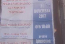 """Barletta; """"Forum del civismo"""" con Emiliano e Zinni"""