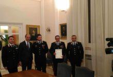 Andria – Il Sindaco premia 3 Carabinieri che evitarono un suicidio a giugno 2016