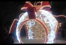 Trani – Spettacolari sculture di luce incantano la villa comunale. VIDEO