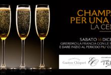 Trani – Le Lampare al fortino:  Champagne per una notte – La Cena