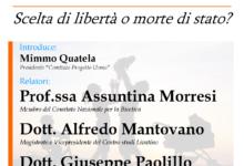 """Barletta – """"Eutanasia: scelta di libertà o morte di stato?"""" Se ne parlerà sabato 20 gennaio"""