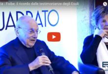 Andria – Foibe, Giorno del ricordo: incontro con gli esuli Laura Brussi e Cesare Montani. VIDEO e GALLERY