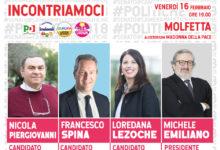 Emiliano domani a Molfetta per sostenere la candidatura di Loredana Lezoche