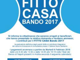Andria – Fitto casa bando 2017: dal 6 febbraio buoni in pagamento
