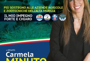 Regione – Carmela Minuto: «Più sostegno alle aziende agricole e zootecniche dell'Alta Murgia»