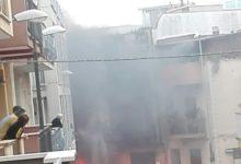 Andria – Auto in fiamme in Via Garibaldi. LE FOTO