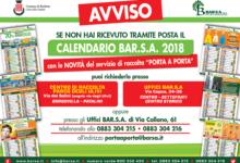 Barletta – Ritiro del calendario Barsa presso i centri di raccolta