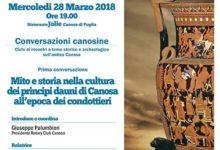 """Canosa di Puglia – Domani primo appuntamento di """"Conversazioni Canosine"""""""