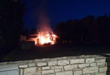 Bisceglie – Vasto incendio in un ex locale movida
