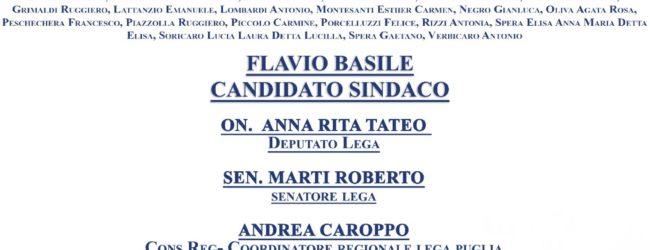 """Barletta –  Presentazione della lista """"Lega con Salvini"""" a sostegno di Basile"""