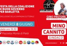 """Barletta – Festa della coalizione di """"Buon governo"""". Chiusura della campagna elettorale di Cannito"""
