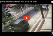 Margherita di Savoia – Si schianta a 120 km/h contro auto in sosta: arrestato 30enne. IL VIDEO