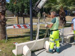 """Barletta – Parco Mennea, dopo 24 ore panchina nuovamente vandalizzata. Cannito : """" Un insulto, una provocazione"""""""
