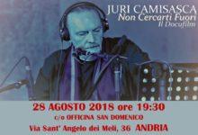 """Andria – """"Non cercarti fuori"""" presentazione docufilm su Juri Camicasca"""