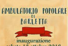 Barletta – Sara' inaugurato un ambulatorio popolare