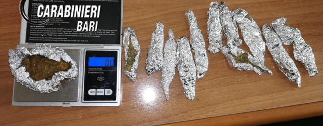 Trani – Spacciava droga in via Papa Giovanni XXIII. Arrestato