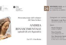 """Andria – Presentazione del libro """"Andria rinascimentale"""": lunedì 26, sala consiliare"""