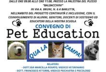 """Barletta – Convegno """"Pet education"""" alla scuola """"Baldacchini"""""""