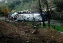 Andria – Camion si ribalta sulla S.P.231 all'altezza del Santuario S.S. Salvatore. VIDEO