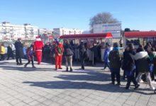 """Andria – """"Il vero regalo è donare"""": il Trenino della Felicità fa tappa nel quartiere di San Valentino. FOTO e VIDEO"""