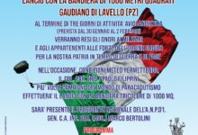 Barletta – Sezione A.N.P.d'I partecipa al lancio con la bandiera italiana più grande del mondo