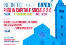Trani – PugliaCapitaleSociale 2.0: bando da 1.140.000 euro per lo sviluppo delle comunità